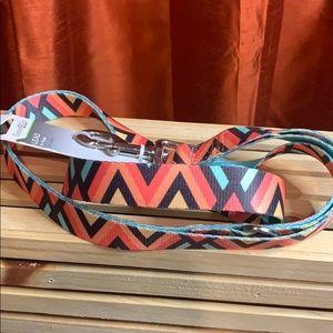 👑 Pink Chevron Dog Leash 6ft NEW